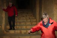voorzichtig bij de trappen